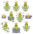 Set emotional expression frog vector