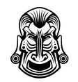 Ancient tribal religious mask isolated on white vector