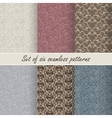 Set of six seamless patterns vector