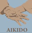 Capture of hands in aikido vector