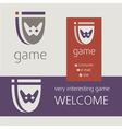 Gaming console controller logo logotype icon vector
