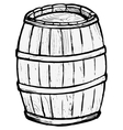 Old wooden barrel vector