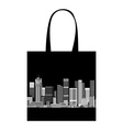 Cityscape shopping bag design urban art vector
