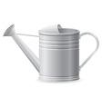 Metal watering can vector