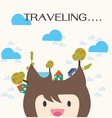 Travel and vacation cartoon vector