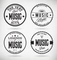 Music badges vector