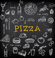 Restaurant cafe pizza menu template design vector