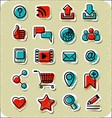 20 internet communication stickers vector