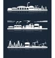 Industrial city skyline banners vector