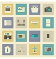 Electrical appliances flat icons set vector