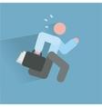 Running businessman ico vector