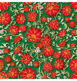 Abstract seamless red floral ornament and shadow vector