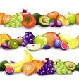 Fruits borders vector