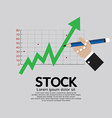 Stock shares rise vector
