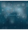 Rainy autumn romantic background vector