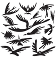 Birds abstract symbols vector