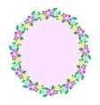 Floral oval frame vector