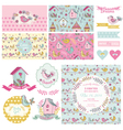 Cute birt party set - for party decoration vector
