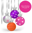 Christmas balls with ribbon and bow vector