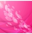 Abstract pink background with falling petals vector