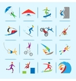 Extreme sports icons vector