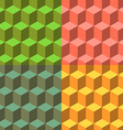 Cube set of seamless backgrounds vector