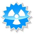 Nuclear blue icon vector