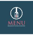 Restaurant menu design template vector