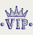 Vip crown symbol vector