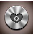 Metal favorite icon button vector