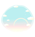 Sky rainbow cartoon vector