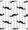 Seamless mustache blue background or pattern vector