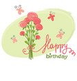 Bouquet birthday vector