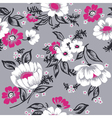 Seamless floral background beautiful set vector