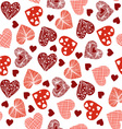 Hearts cheerful pattern with hearts vector