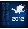 2012 year calendar vector