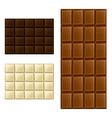 Chocolate bar set vector