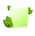 Note with leaves and ladybird vector