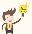 Businessman and idea vector