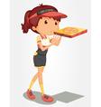 Pizza girl vector