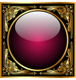 Abstract background with glass ball and golden pat vector