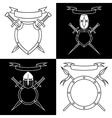 Contours of emblems vector
