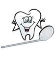 Happy tooth vector