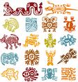 Set - mexican symbols vector