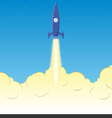 Rocket clouds copy vector