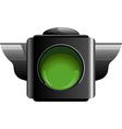Green traffic light vector
