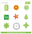 Green nature eco sign set vector
