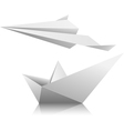 Boat airplane vector