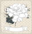 Hand drawn of a single flower eps 10 vector