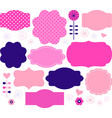 Retro paper patterned colorful tags vector